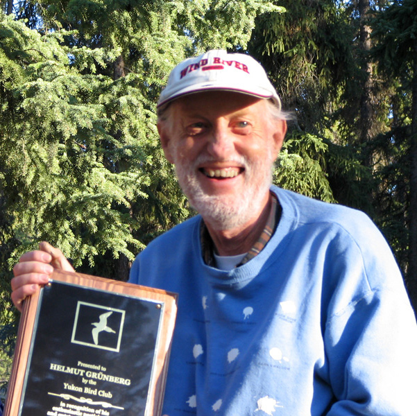 The Yukon Bird Club's birdathon was renamed the Helmut Grünberg Yukon Birdathon to honour the activist and birder who passed away in February 2015.
