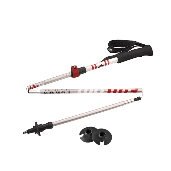 83-0108 Flipout Aluminum Collapsible Trekking Pole Red