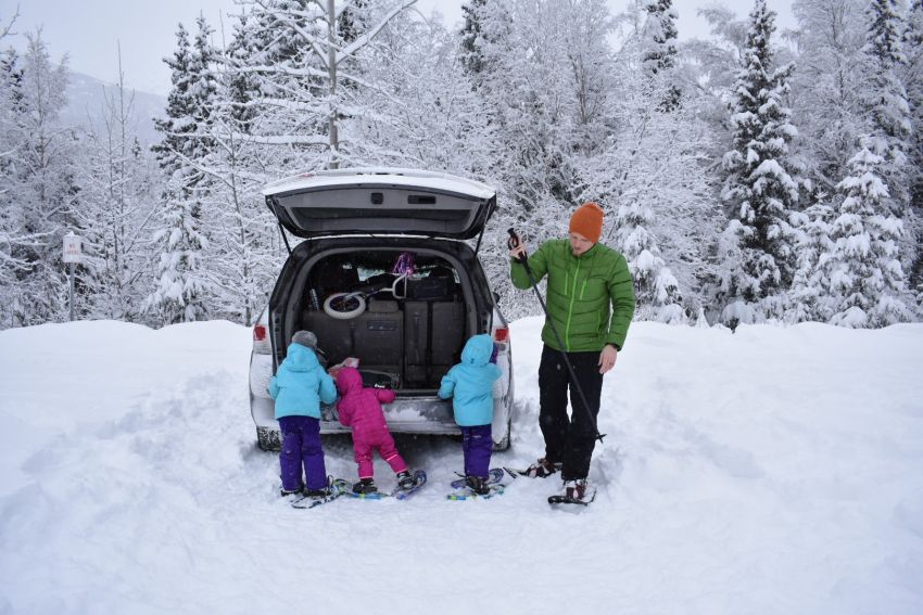 North Country Littles - Out for a Snowshoe