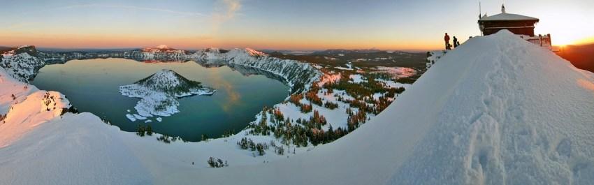Snowshoeing Crater Lake