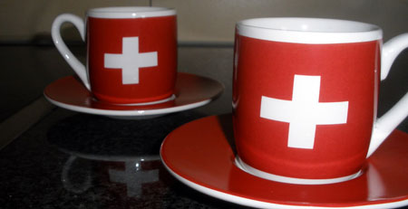 Swiss coffee cups