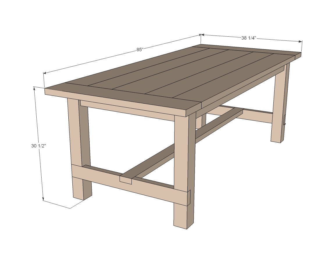 Build A Farm Style Dining Room Table