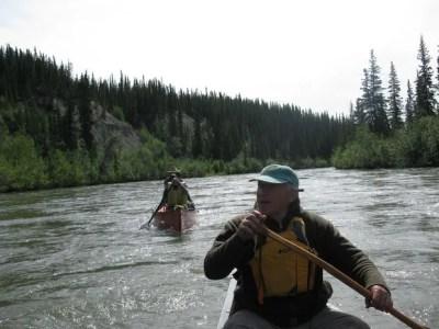 Bob paddling