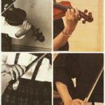 4歳の私と今の私 バイオリンの指の形を比べてみました。