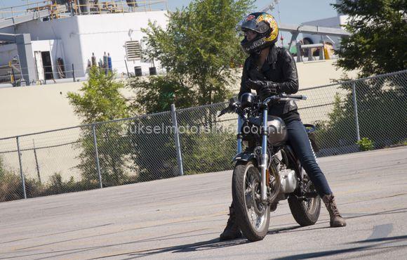 Motosiklet test sürüşü
