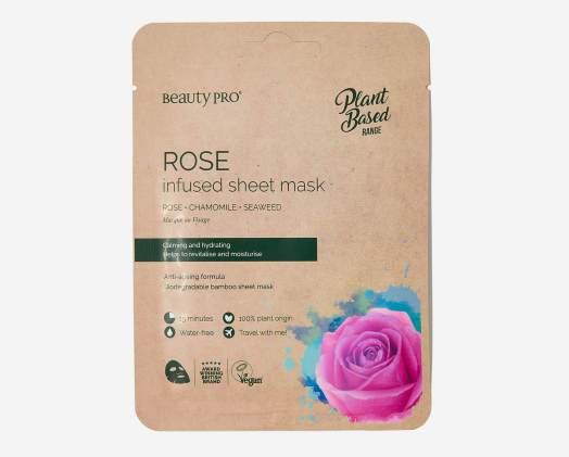 BeautyPro Rose Infused Sheet Mask