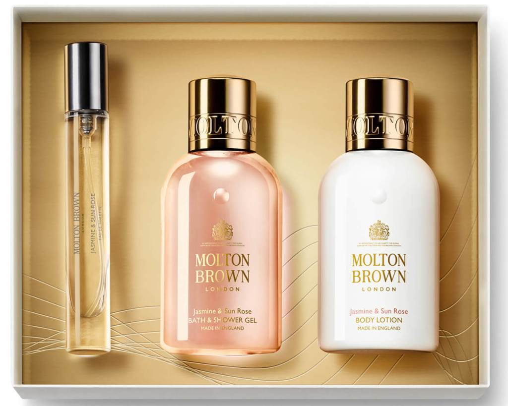 Molton Brown Jasmine and Sun Rose Fragrance Luxuries Gift Set