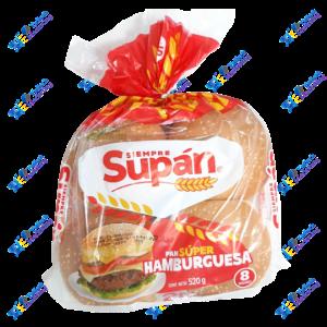 Supán Super Pan de Hamburguesa Packx8u 520 gr
