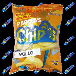 Comlasa Chips Papas Fritas Pollo 100g