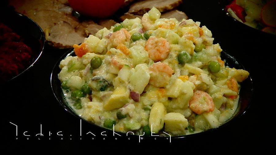 recipes | рецепты | полезное питание | салат с креветками