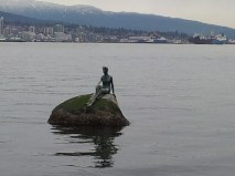 Woman in Scuba Gear. More like Big Disappointment Rock.