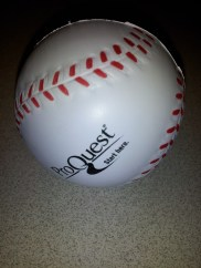 Stress ball from ProQuest.