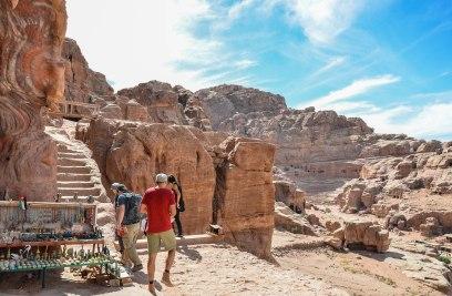 Petra, halfway to the top