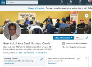 Hank Yuloff LinkedIn page