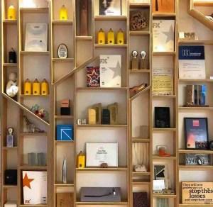 a wall of awards