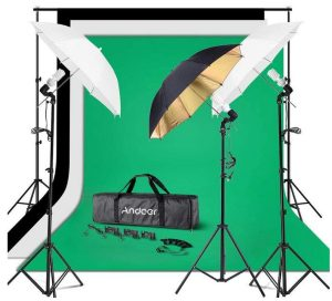 video backdrop with lights