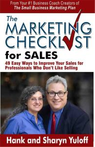 The Marketing Checklist for Sales book cover repurposed blog content