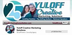 Yuloff Creative logo image repurposed on social media
