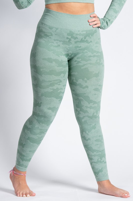 High-Waist Adventurous Legging – Camo Mint