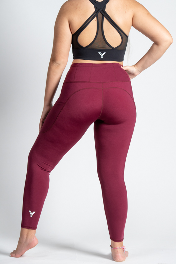 7/8 High-Waist Chilled Legging – Malbec