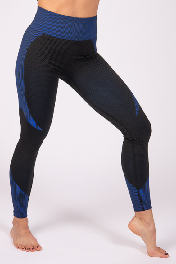High-Waist Powerful Legging – Black/Blue