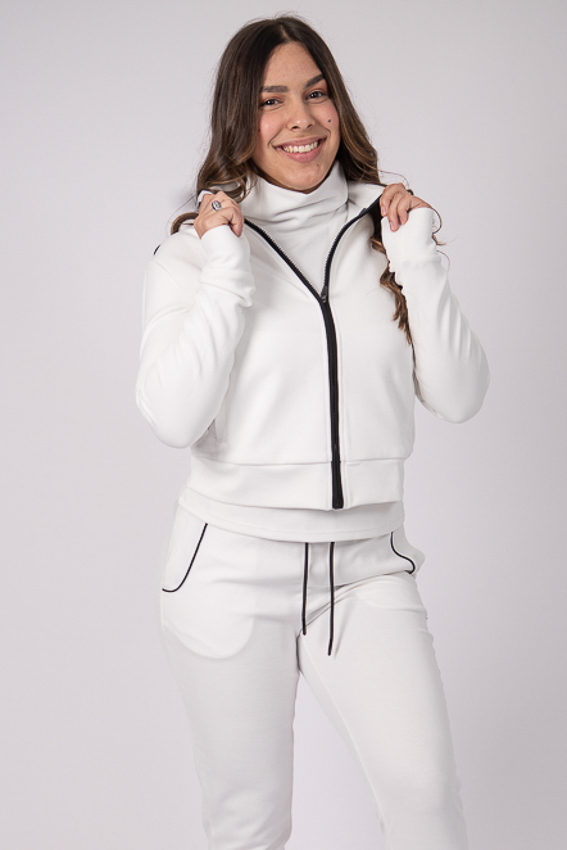 Soul Warmer Jacket – White/Black