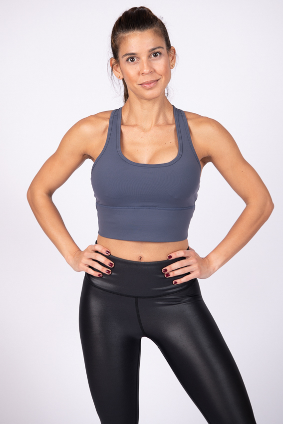 Supportive High Impact Sport Bra - Aegean Blue