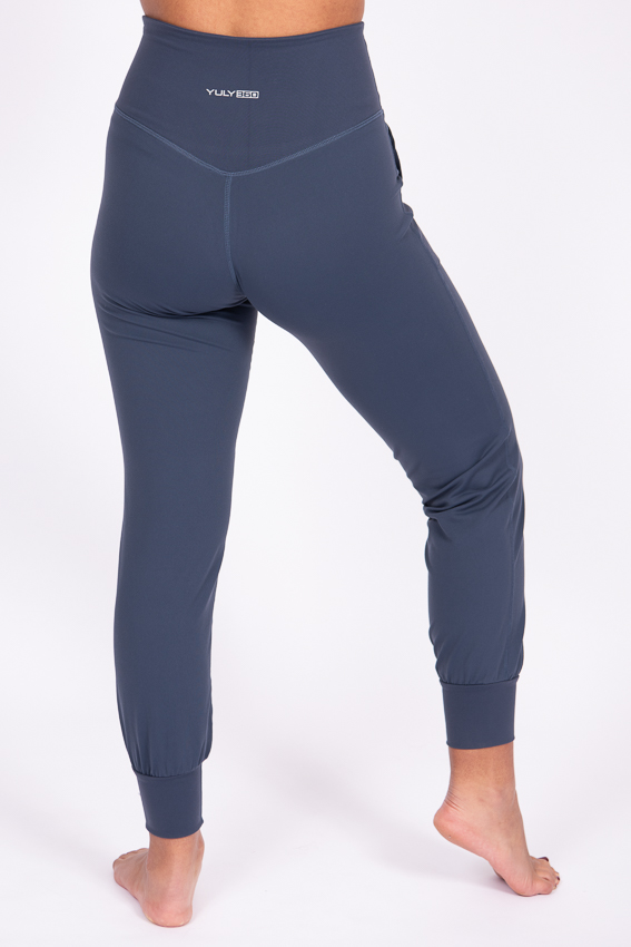 High-Waist Chilled Joggers – Aegean Blue