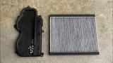 SUBARU R2 純正エアコンフィルター取り付け + エバポレーター簡易洗浄