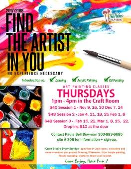 2017-2018 Art Painting Classes