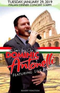 2019-01-29 Dominic Antonelli Dinner Concert