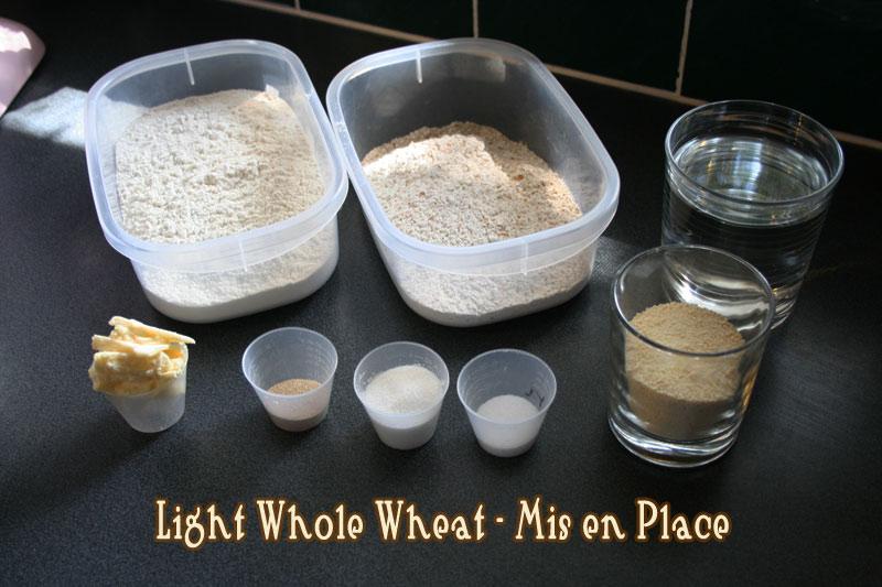 Light Whole Wheat Sandwich Bread