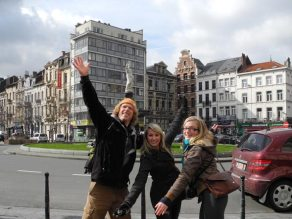 Paul, Rochelle and Julia in Brussels