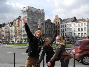 Paul, Rochelle and Julia in Brussels