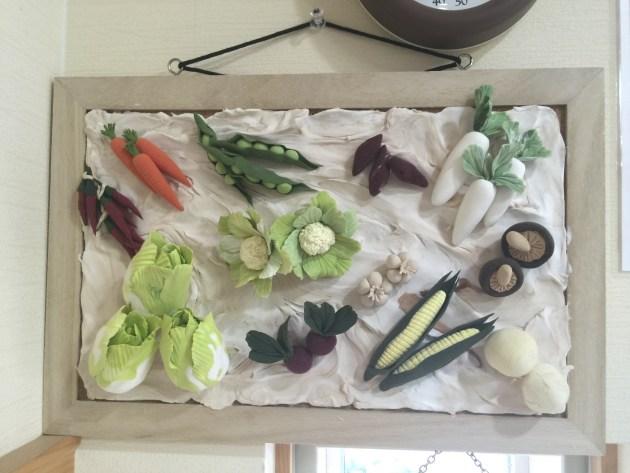 野菜の粘土細工