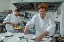 Teamwork in kitchen