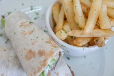 wraps served with or without chips