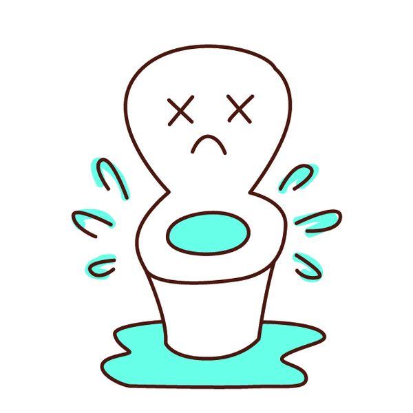 トイレの水があふれる