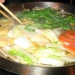 白菜を食べる