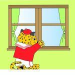 窓から覗かれる
