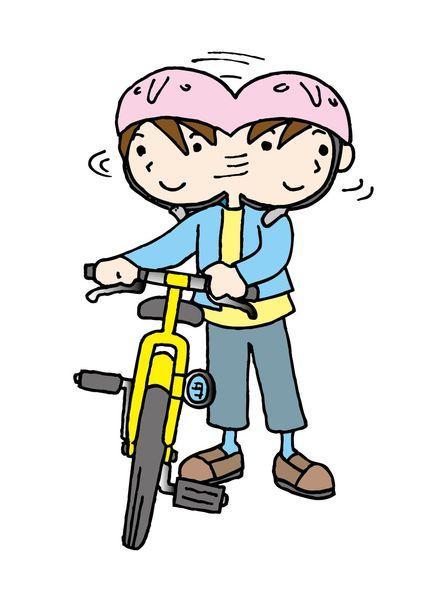 自転車で横断歩道を渡る