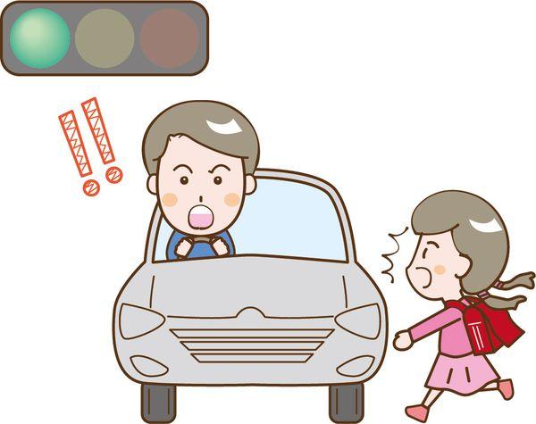 横断歩道で事故に遭う