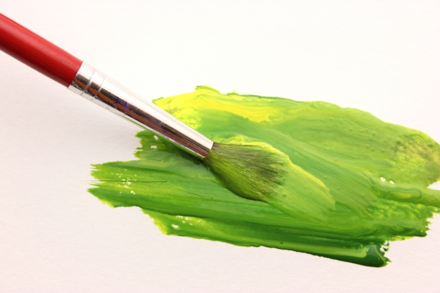 絵の具で新たな色を作る