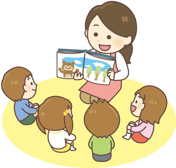 子どもに絵本を読む