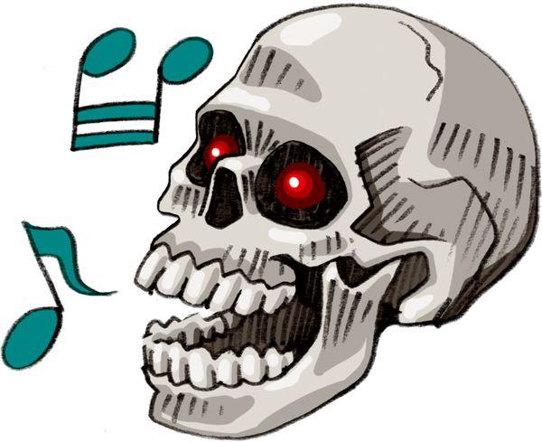 骸骨がしゃべる