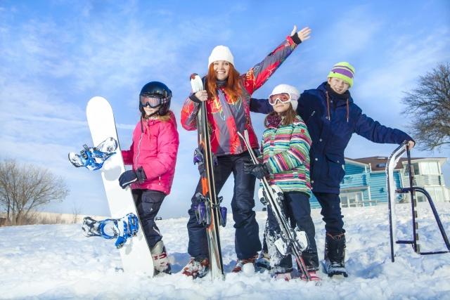 スキー・スノーボードを楽しんでうまく滑る