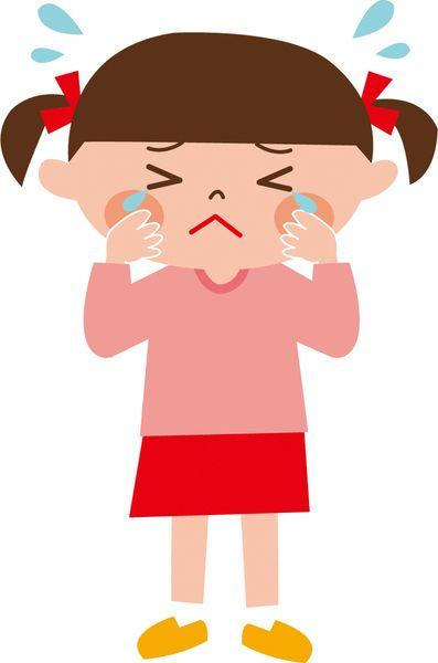 迷子になった子どもが泣く