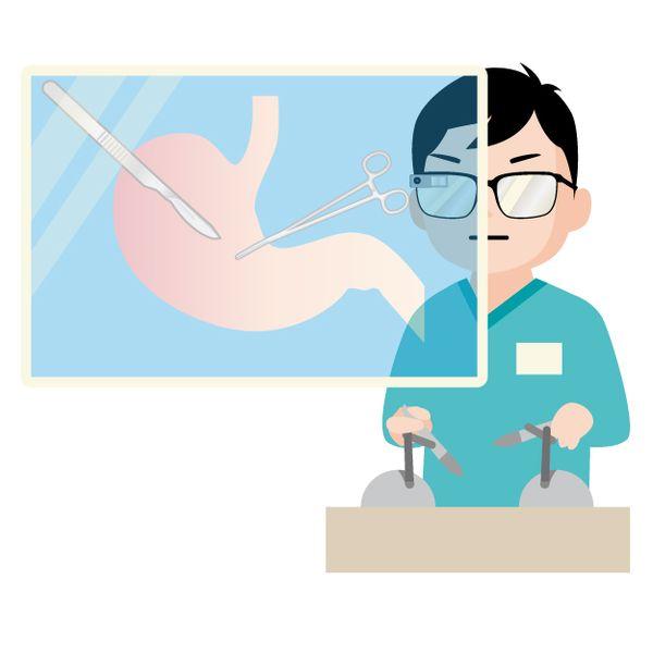 内臓の手術をする