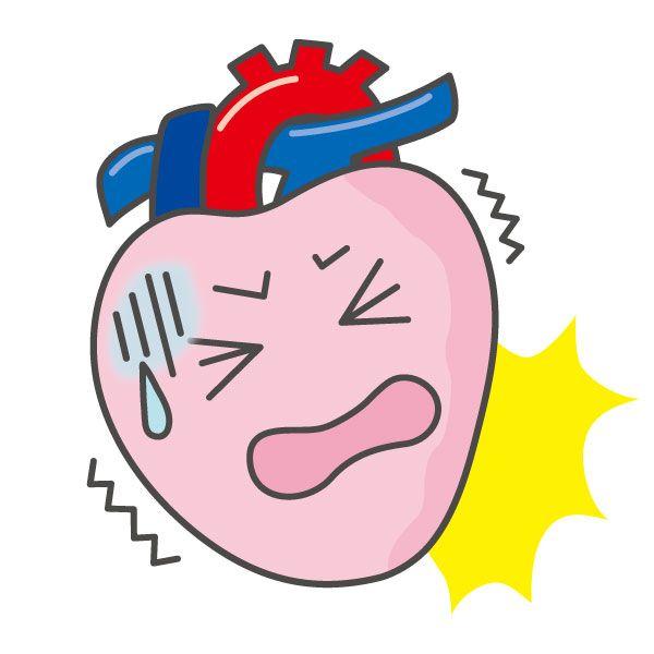 心臓を何かで突き刺したり突き刺されたりする
