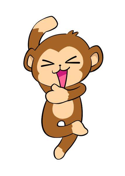 猿を追い払う